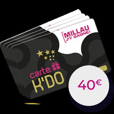 Carte Kdo 40 €