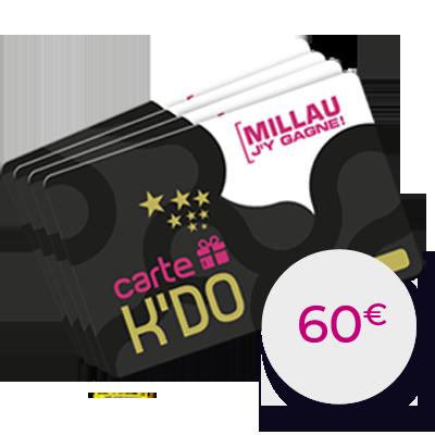 Carte Kdo 60 €
